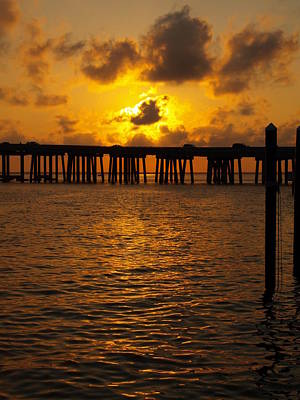 Photograph - Destin Harbor Sunset 1 by James Granberry