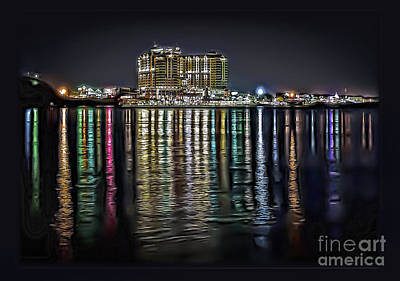 Photograph - Destin Night Across The Estuary by Walt Foegelle