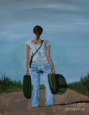 Painting - Destination Unknown by Leslie Allen