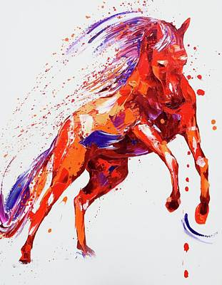 Wild Horse Painting - Destiny by Penny Warden