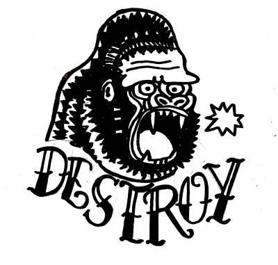 Drawing - Destroy by Nate Henricks