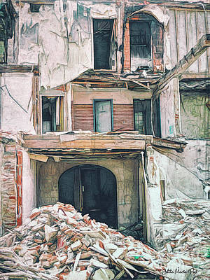 Photograph - Destroyed By Fire by Jutta Maria Pusl