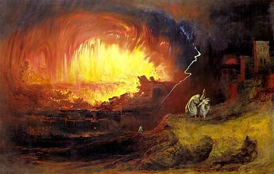 Destruction Of Sodom And Gommorah  Original by John Martin