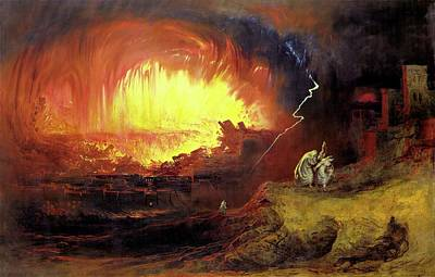 Destruction Of Sodom And Gomorah Art Print