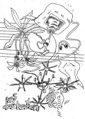 Drawing - Destruction by William Tilton