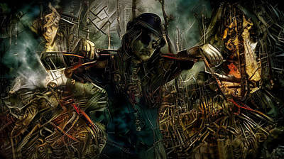 Steampunk Mixed Media - Destructor  by Lilia D