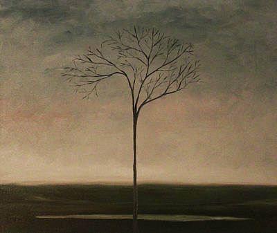 Painting - Det Lille Treet - The Little Tree by Tone Aanderaa