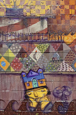 Detail - Mural Coney Island 2 Art Print by Robert Ullmann