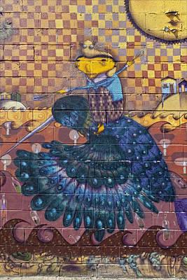 Detail - Mural Coney Island Art Print by Robert Ullmann