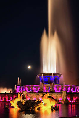 Photograph - Detail Buckingham Fountain by Patrice Bilesimo