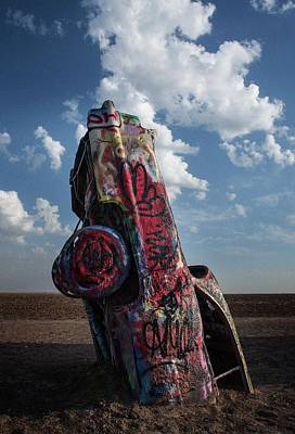 Photograph - Detail, Cadillac Ranch by Bud Simpson