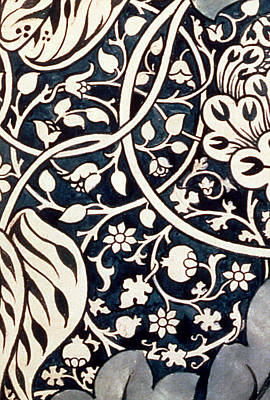 Flower Design Drawing - Detail Design For Avon Chintz by William Morris