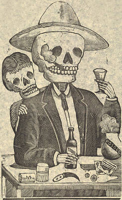Detail From Calavera Tapatia Art Print by Everett