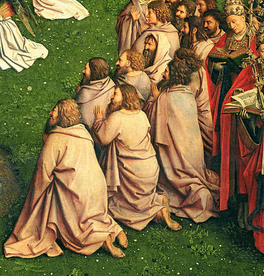 Detail From The Adoration Of The Mystic Lamb Art Print by Van Eyck
