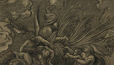 Baby Angel Drawing - Detail From The Flight Into Egypt by Raphael
