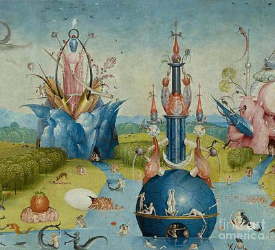 Fantastical Painting - Detail From The Garden Of Earthly Delights  Central Panel by Hieronymus Bosch