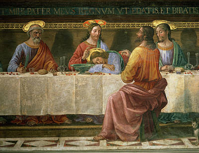 Florence Italy Painting - Detail From The Last Supper by Domenico Ghirlandaio