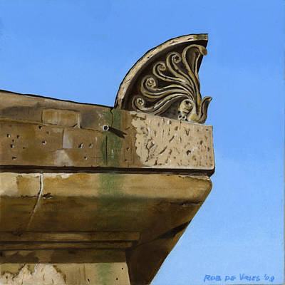 Painting - Detail Lighthouse Egmond by Rob De Vries