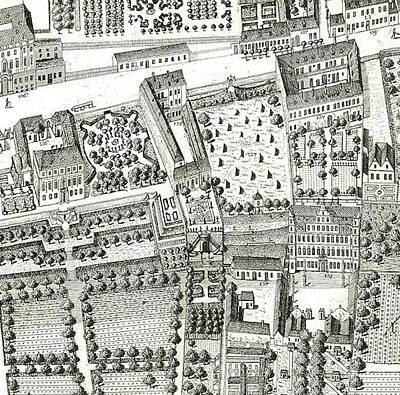 Detail Of A Map Of Vienna Showing 135 Alsergrund Where Mozart And His Family Lived During 1788  Art Print by Joseph Daniel Huber