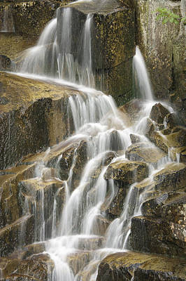 Nature Photograph - detail of a small waterfall in Stevens Canyon Mount Rainier Nat by Ed Book