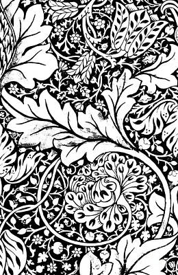 Blooming Drawing - Detail Of A Vintage Textile Pattern Design By William Morris by William Morris