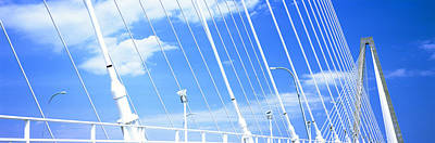 Mount Pleasant Photograph - Detail Of Arthur Ravenel Jr. Bridge by Panoramic Images