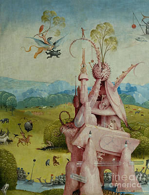 Fantastical Painting - Detail Of Central Panel  The Garden Of Earthly Delights by Hieronymus Bosch