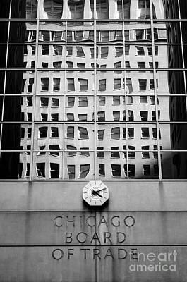 Detail Of Chicago Board Of Trade Building Art Print by Lane Erickson