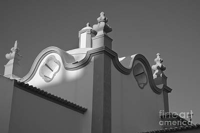 Temple Photograph - Detail Of Church Of Santana In Albufeira by Angelo DeVal