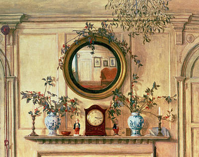 Mantlepiece Painting - Detail Of Home Sweet Home  by Walter Dendy Sadler