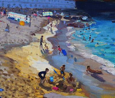 St Ives Wall Art - Painting - Detail Of Overlooking Porthmeor Beach St Ives by Andrew Macara