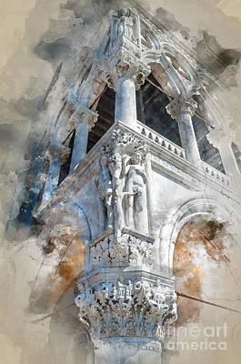 Veneta Photograph - Detail Of Palazzo Ducale by Barbara Dudzinska