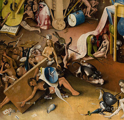 Fantastical Painting - Detail Of Right Panel Showing Hell  The Garden Of Earthly Delights by Hieronymus Bosch