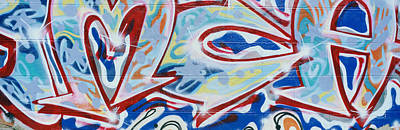 Airbrush Photograph - Detail Of Street Graffiti by Panoramic Images