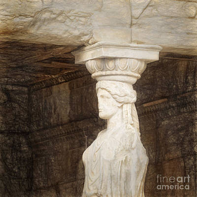 The Caryatid Porch Of The Erechtheion Print by HD Connelly