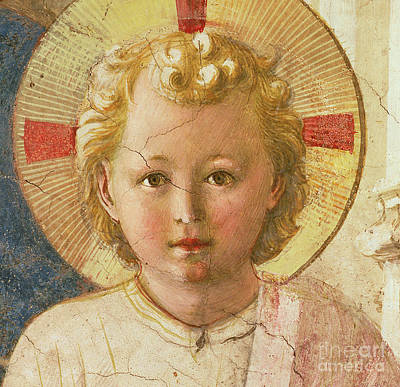 Angel Of Peace Painting - Detail Of The Christ Child From The Madonna Delle Ombre by Fra Angelico