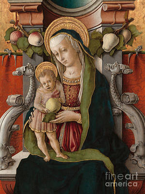 Detail Of The Madonna And Child Enthroned Art Print