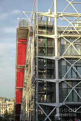 Photograph - Detail Of The Pompidou Centre In Paris by Patricia Hofmeester