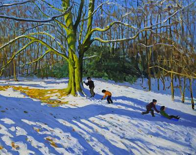 Detail Of Top Of Allestree Park Print by Andrew Macara