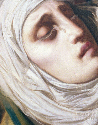 Detail Of Virgin Mary At The Foot Of The Cross Art Print
