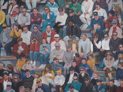 Painting - Detail Of West Point Crowd by James Sparks