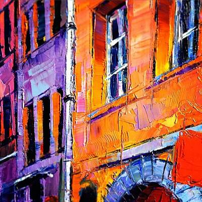 Architecture Wall Art - Photograph - Detail On New Painting In Progress by Mona Edulesco