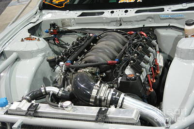 Junks Etc Photograph - Detailed Engine Compartment   # by Rob Luzier