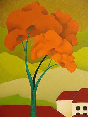 Detailed  Landscape 2009 Art Print by S A C H A -  Circulism Technique