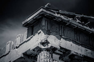 Photograph - Details From The Parthenon - Greece by Stavros Argyropoulos
