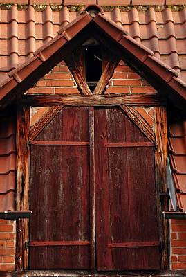 Photograph - Details Of A Timbered House by Werner Lehmann