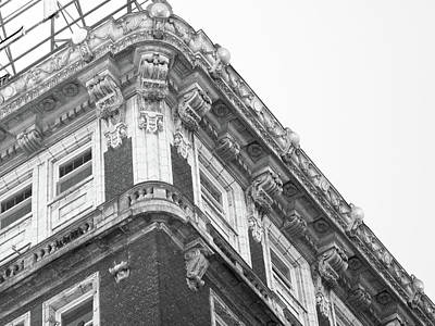 Photograph - Details Of Building At 9th And Main Dtla Bw by Hold Still Photography