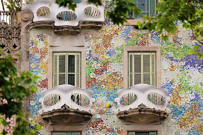 Photograph - Details Of Casa Batllo In Barcelona 2, Spain by Blaz Gvajc