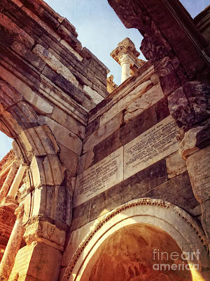 Ephesus Photograph - details of Ephesus by HD Connelly