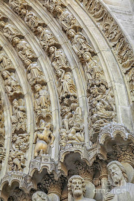 Photograph - Details Of The Entrance Of The Notre Dame by Patricia Hofmeester